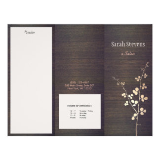 Elegant Zen Gold Branch Wood Nature Spa Brochure
