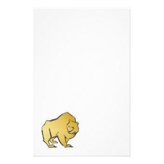 Elegantly Luxurious Gold Bear Stationery