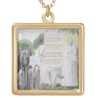 'Elegy written in a Country Church-Yard', design 1 Gold Plated Necklace