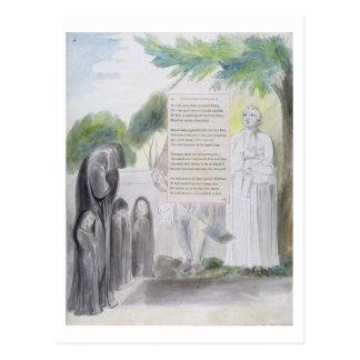 'Elegy written in a Country Church-Yard', design 1 Postcard