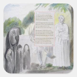 'Elegy written in a Country Church-Yard', design 1 Square Sticker