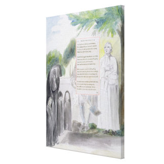 'Elegy written in a Country Church-Yard', design 1 Stretched Canvas Print
