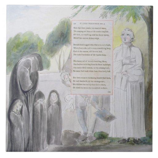 'Elegy written in a Country Church-Yard', design 1 Tiles