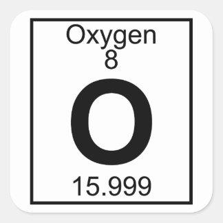 Oxygen the element craft supplies zazzle element 008 o oxygen full square sticker urtaz Gallery