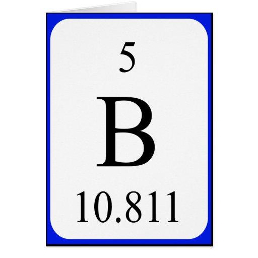 element 5 card boron white zazzle
