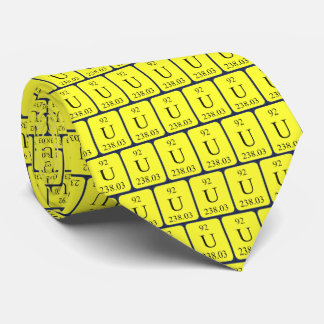 Element 92 Uranium tie Transparent graphics