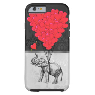Elephant and love heart tough iPhone 6 case