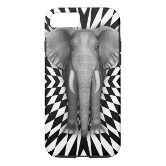 Elephant And Optical Pattern Design, Zany Pattern iPhone 8/7 Case