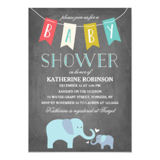 Elephant Baby | Baby Shower Invitation