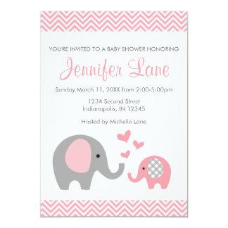 Elephant Baby Shower Invite Girl