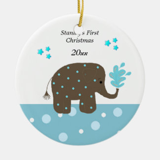 Elephant christmas gifts t shirts art posters other for Baby s first christmas decoration
