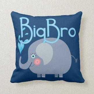 Elephant Big Bro Throw Pillow