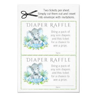 Elephant Diaper Raffle Tickets Card