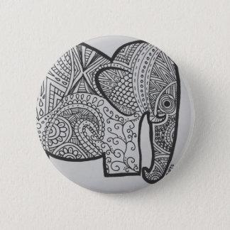 Elephant Doodle Button