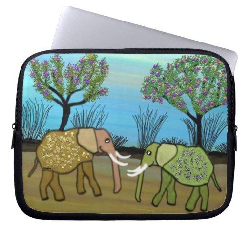 Elephant Habitat Laptop Sleeve