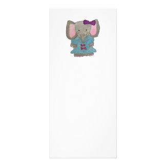 Elephant Jungle Friends Baby Animal Water Color 10 Cm X 23 Cm Rack Card