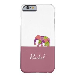 Elephant On the Road (Colourful Flowers) Barely There iPhone 6 Case