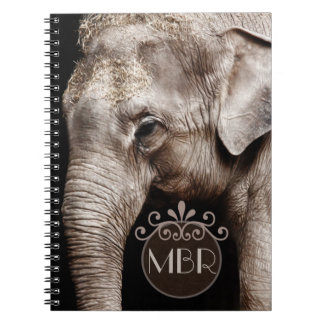 Elephant Photo Image Spiral Notebook