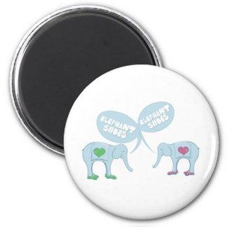 Elephant Shoes 6 Cm Round Magnet