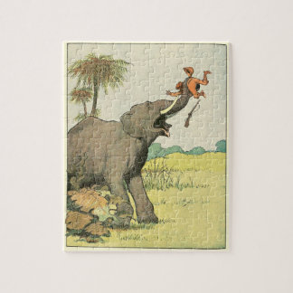 Elephant Story Book Drawing Jigsaw Puzzle