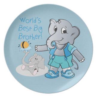 Elephant, World's Best Big Brother Dinner Plate