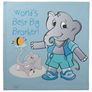 Elephant, World's Best Big Brother Napkin