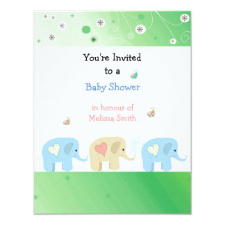 Elephants Baby Shower Invitation