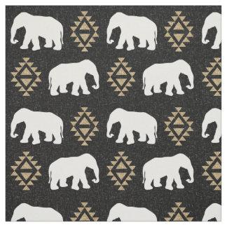 Elephants - Indian elephant design Fabric