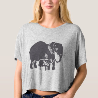 Elephants Women's Bella Boxy Crop Top