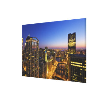 Elevated view, Chicago River Canvas Print
