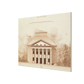 Elevation of house of director of the salt canvas print