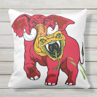 Eleviper hybrid cross of red elephant/yellow viper outdoor cushion