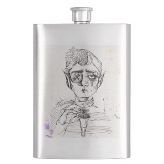 Elf and Cup Hip Flask