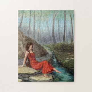 Elf Girl in a Fantasy Forest Jigsaw Puzzle