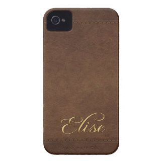 ELISE Leather-look Customised Phone Case iPhone 4 Case-Mate Case