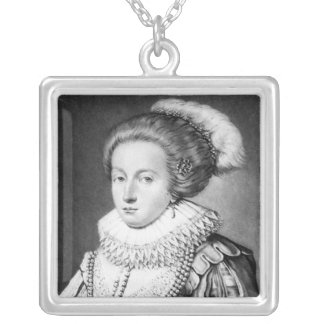 Elizabeth Stuart, Queen of Bohemia Silver Plated Necklace