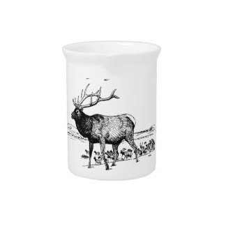 elk herd art yeah pitcher