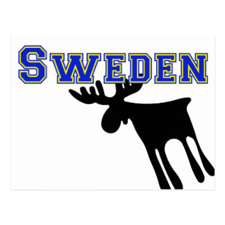 Elk/Moose, Sweden Postcard