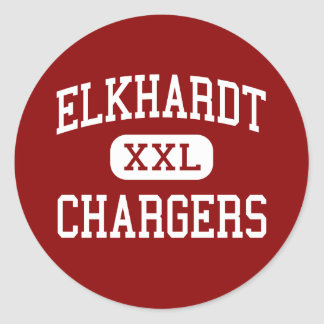 Elkhardt - Chargers - Middle - Richmond Virginia Round Stickers