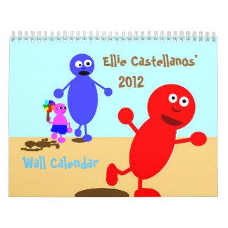 Ellie Castellanos' 2012 Wall Calendar