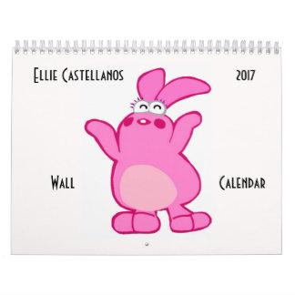 Ellie Castellanos 2017 Wall Calendar