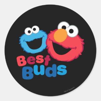 Elmo and Cookie Besties Classic Round Sticker