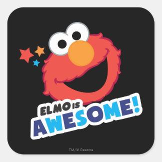 Elmo Awesome Square Sticker