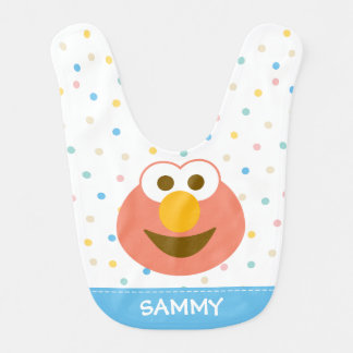 Elmo Baby Big Face | Add Your Name Bib