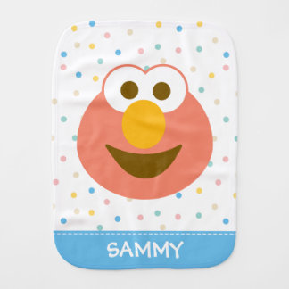 Elmo Baby Big Face | Add Your Name Burp Cloth