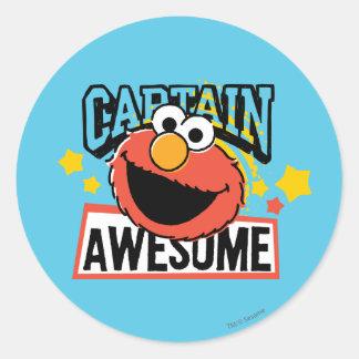 Elmo Captain Comic Classic Round Sticker