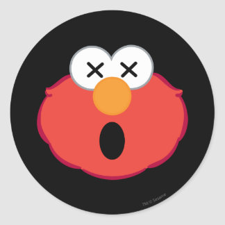 Elmo Dizzy Face Classic Round Sticker