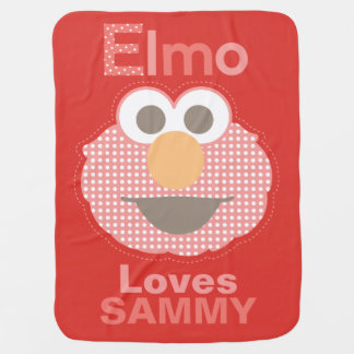 Elmo Loves You | Add Your Name Baby Blanket