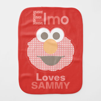 Elmo Loves You | Add Your Name Burp Cloth