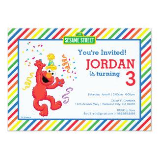 Elmo Neutral Birthday 13 Cm X 18 Cm Invitation Card